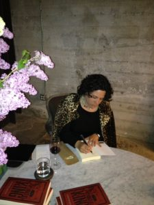 Evette's book signing at launch